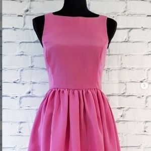 American Apparel Sleeveless Fit & Flare Pink Dress